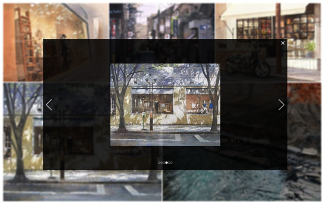 jQuery imitation Facebook picture gallery Effects