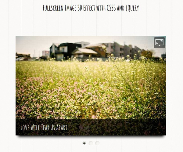 jQuery+CSS3 realizes 3D full screen picture switching animation Effects