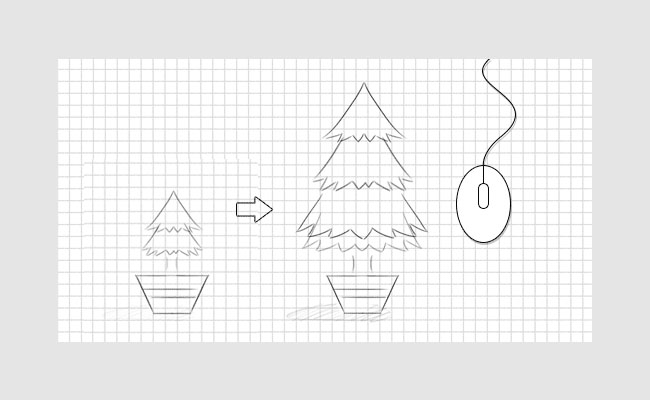 HTML5 mouse scrolling tree growth process Effects