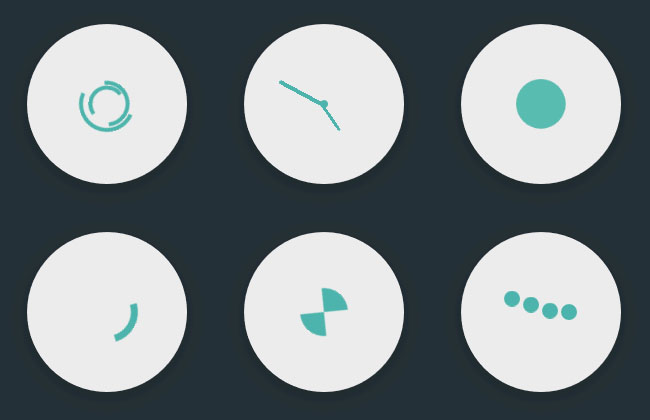 CSS3 Flat Loading Animation Effects