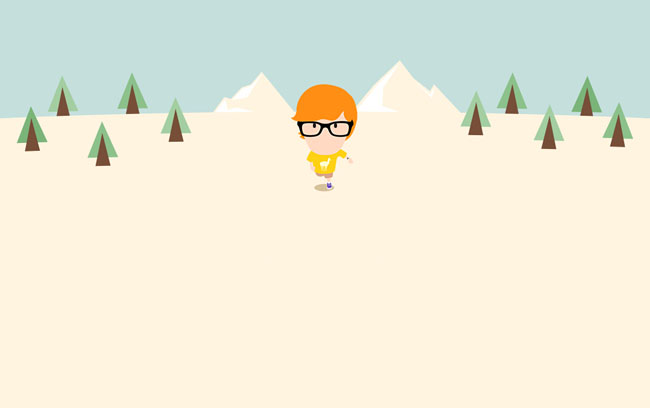 CSS3 cartoon character running animation Effects