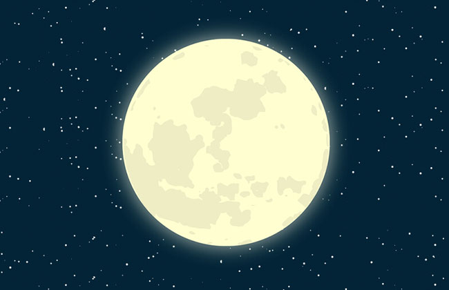 Pure CSS3 night sky moon animation Effects