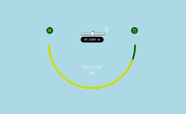 html5 smiley music player Effects