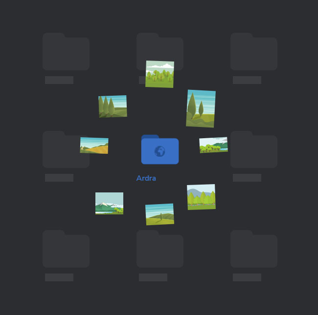 HTML5 interactive folder preview Effects