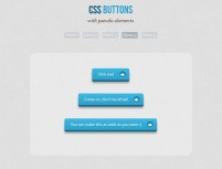 CSS3 implements pseudo-object stereo buttons