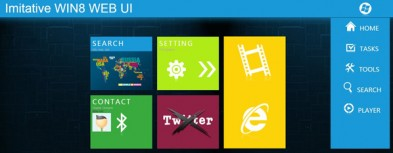 jQuery+CSS3 simulates WIN8 card UI