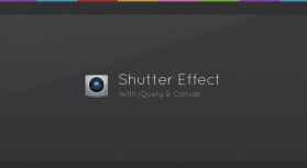 Camera shutter based on jQuery