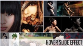 Hover or slide jQuery image