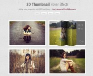 jQuery+CSS3 implements 3D thumbnail hovering