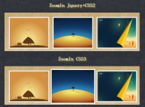 jQuery simulated CSS3 picture enlargement comparison