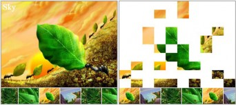 html5 mosaic picture slideshow