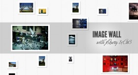 Photo wall display implemented by jQuery+CSS3