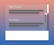 Full-screen scrolling switching with jQuery stroke positioning