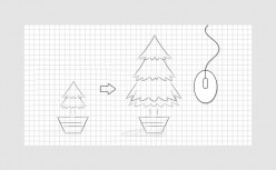 HTML5 mouse scrolling tree growth process