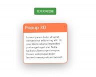 jQuery 3D pop-up window transform