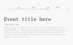 HTML5 horizontal timeline description switching