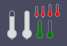 HTML5 Canvas thermometer style