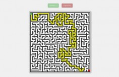 jQuery maze automatic path finding