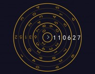CSS3 creative personality digital clock animation