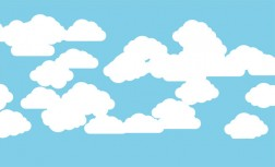 Pure CSS3 white cloud floating animation