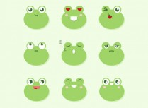 Pure CSS3 frog expression animation