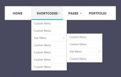 Bootstrap multi-level navigation menu