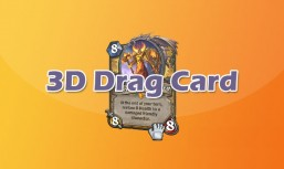 3D mouse drag card CSS3 animation