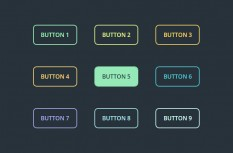 Pure CSS3 mouse over colored animated buttons