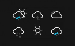 CSS3 implements animated weather icons