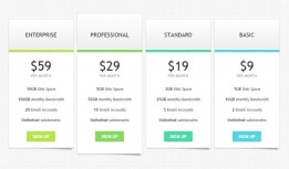 CSS3 pricing table suitable for product sales pages