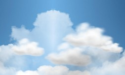 CSS3 white clouds floating in the sky animation
