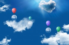 css3 balloon floating in the sky animation