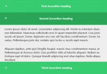 CSS3 responsive vertical accordion expands and contracts