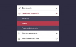 CSS3 Vertical Accordion Collapse Menu