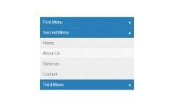Accordion menu with animated CSS3