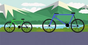 Animated bicycle scene in CSS3 park