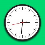 js+css3 round clock vector animation