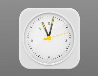JS+CSS3 online pointer clock icon