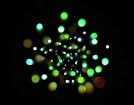 HTML5 Canvas dot glow