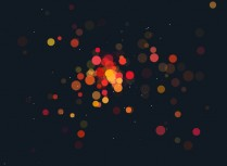 HTML5 Canvas Dot Divergence Animation