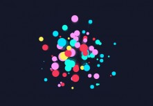 Html5 canvas colorful dot fireworks