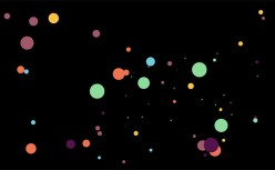 HTML5 Canvas dot parallax animation