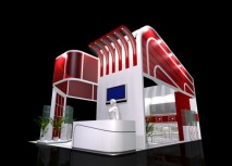 3D exhibition hall design model