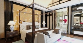 Chinese style bedroom model diagram