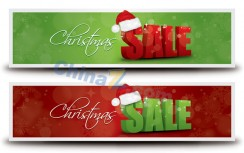 Christmas SALE banner design material 7