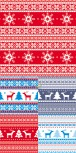 Christmas knitted pattern material 4